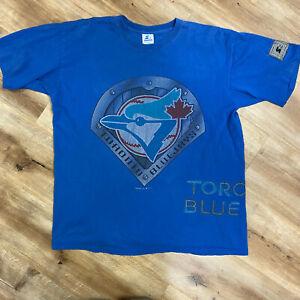 TORONTO BLUE JAYS VINTAGE 90s STARTER MLB BASEBALL TSHIRT ADULT LARGE