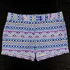 Vineyard Vines Womens 8 Blue Multi Stripe Pattern Cotton St. Barth Chino Shorts