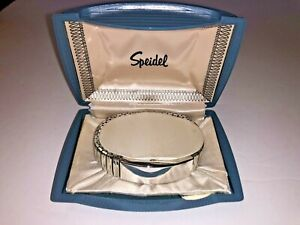 Vintage Chrome Speidel Watch Style ID Bracelet New w Orginal Satin Lined Case