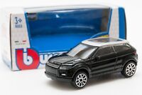 Land Rover Evoque Black, Bburago 18-30214, scale 1:43, toy car model boy gift