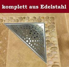 Duschrinne Dreieckig Bodenablauf Duschablauf Wand Ablauf Dreieck eckig - 20x20cm