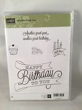 Another Great Year Stampin Up New Birthday Cupcake Big Wish