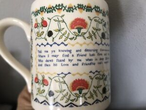 Coffee Cup Mug Embroidery Cross Stitch Sampler From Fitzwilliam Museum Cambridge
