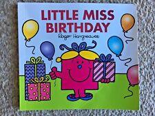 Childrens Book Mr.Men/Little Miss Little Miss BIRTHDAY - Roger Hargreaves - VGC