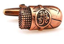 Cigar Pair Cufflinks Bronzed Band Cuban Wedding Fancy Gift Box & Polishing Cloth