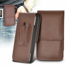 Vertical Belt Clip Quality Pouch Holster Top Flip Case Holder✔Brown