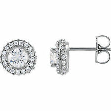 (G-H, SI1) Halo-Style Diamond Earrings In Platinum (1.00 ct. tw