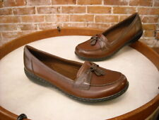 Clarks Brown Multi Leather Ashland Bubble Comfort Loafer New