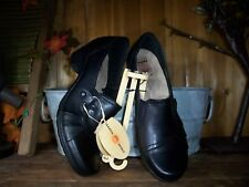 EARTH SPIRIT LADIES CASUAL DRESS SHOES SIZE 7 BLACK SLIP ON WOMENS FORMAL NEW
