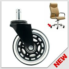Universal Office Chair Caster Wheels Heavy Duty Safe 3 Rollerblade Replacement