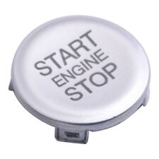 Botón interruptor de parada de inicio del motor de Plata tapa se ajusta para Alfa Romeo Giulia 2017-19