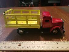 vintage tin friction stake bed toy truck made in Japan tin toy lot