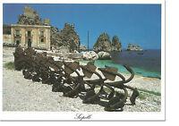CARTOLINA SICILIA SICILY POSTCARD SCOPELLO TONNARA FARAGLIONI MARE SEA BEACH