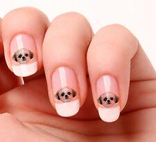 20 Nail Art pegatinas transferencias calcomanías # 658-Shih Tzu Perro Peel & Stick