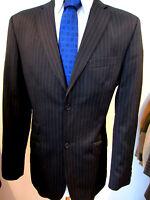 Ted Baker Black Pinstripe Jacket UK 40 EU 50 Long Fabulous Lining