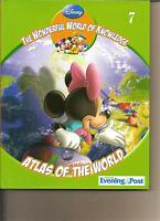 DISNEY PRESENTS THE WONDERFUL WORLD OF KNOWLEDGE 7 - ATLAS OF THE WORLD BOOK