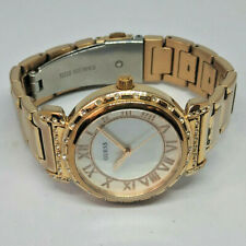 Ladies Guess Rose Gold Plated Watch Diamante Case Watch W0831L2
