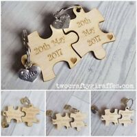 Puzzle Piece Keyring, wedding gift, his & hers, engagement gift, keyring set