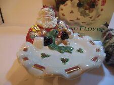 Fitz and Floyd 2000 Toyland Santa Tidbit Dish With Potpourri 863/6Mc New In Box
