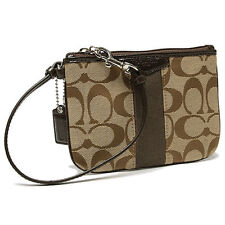 COACH SIGNATURE STRIPE SMALL WRISTLET (COACH F51158) NWT