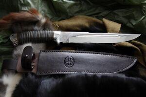 Russisches Messer, Jagdmesser A&R Zlatoust -- Sohatiy Leder