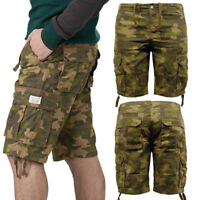 Mens Cargo Shorts Stallion Casual Combat Summer Chino Cotton Camo Half Pants New
