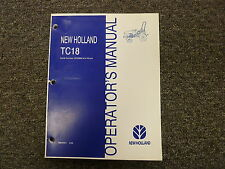 New Holland Tc18 Compact Utility Tractor Owner Operator Maintenance Manual Book