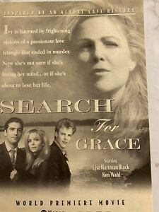 Search For Grace, Lisa Hartman Black, Ken Wahl, Full Page TV Guide Ad