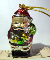 Santa Claus Ceramic Miniature hanging ornament vintage 1990s