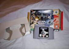 NINTENDO 64 1996 STAR WARS SHADOWS OF THE EMPIRE CARTRIDGE & HOLDER VIDEO GAME