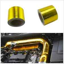 "Car 2""x33"" 1200°f Continuous Self Adhesive Reflective Heat Shield Wrap Tape Gold"
