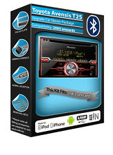 Toyota Avensis T25 CD player, Pioneer car stereo AUX USB, Bluetooth Handsfree