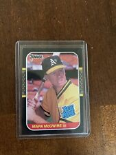 Mark McGwire 1986 Donruss Rated Rookie Card
