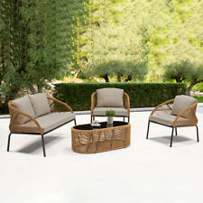 Outdoor Sofa Set Lounge Coffee Table Chairs Water Repellent Garden Patio
