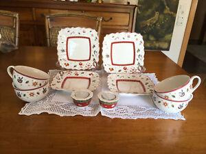 Villeroy Boch Toys Delight 4 Tassen, 4 Brotteller, 2 Teelichthalter unbenutzt