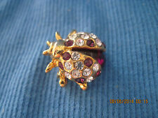 GORGEOUS Gold & Crystal Figural Bee Lapel/Scatter Pin....6886