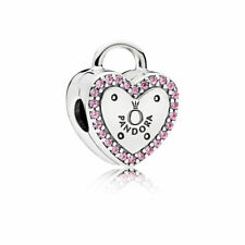 PANDORA  Sterling Silver Clip Sigillo D'amore Charm A925 ALE 796556FPC