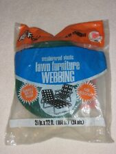 Frost King Green with White Stripes Lawn Chair Webbing 72 Feet
