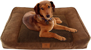 Kennel Club Memory Foam Sofa Pet Bed Orthopedic Pillow Cushion Plushed Pad Fur