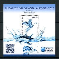 Hungary 2016 MNH Budapest 2016 Water Summit 1v M/S Science Stamps