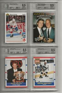 1990-91 Score Wayne Gretzky #352 BGS 8.5 with 9.5 GEM MINT CENTERING!