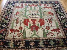 Excellent Tribal Turkish Herizz Hand Knotted Wool Oriental Rug 8' x 9'3""