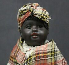 ANTIQUE  GERMAN  BISQUE  DOLL  with  BABY - - ALL  ORIGINAL - - by   KUHNLENZ