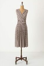 Anthropologie Plenty Tracy Reese Dynamic Zigs Dress Jersey Surplice Midi XS 0 2