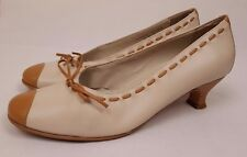 "HOTTER ""Panache Jag"" Ladies Cream Brown Leather Heels Size UK 5.5"