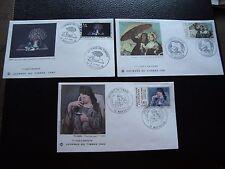 FRANCE - 3 enveloppes 1er jour 1980/1981/1982 (journee du timbre) (cy92) french