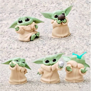 Baby Yoda Action Figures Toys Star Wars Mini Action Figure Kids 5pcs Gift