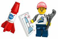 Lego Space Fan 71027 (aka NASA Rocket Girl) Series 20 Minifigure