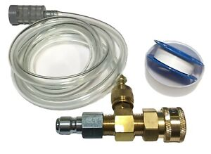Chemical Detergent Chlorine Soap Kit Adjustable In Line Injector 2-3 GPM
