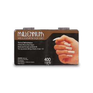 Millennium 400 Desk Top Box Square   Nail Tips